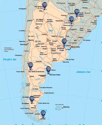 mapa de Argentina - GUÍA DE VIAJE A ARGENTINA