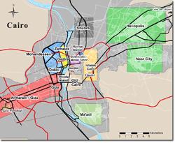 Turismo de Egipto: Mapa de El Cairo guía de Egipto