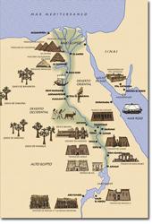 Mapa de Egipto Destino Egipto