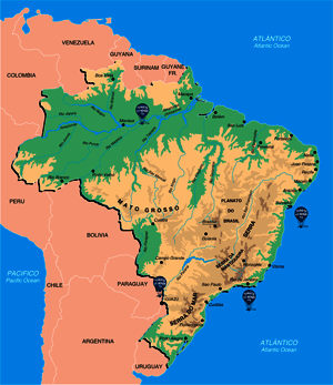 Mapa de Brasil - Guía de Brasil