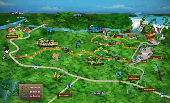Mapa del Camino de los Pioneros
