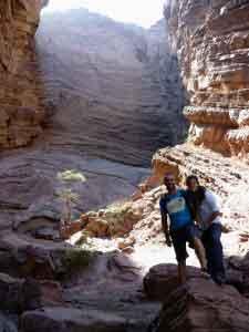 Eva y Jose en Quebrada del Río de las Conchas (Noroeste de Argentina)
