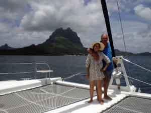 """Gabriel e Isabel, bordo de catamarán a vela """"Archipels"""""""