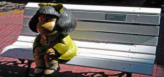 Escultura de Mafalda (por Pablo Irrgang)