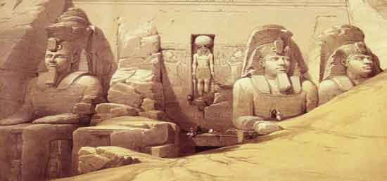 David Roberts - The Colossi Of Ramesses II