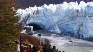 ruptura Perito Moreno - Desplome del dique de hielo que forma el conocido túnel