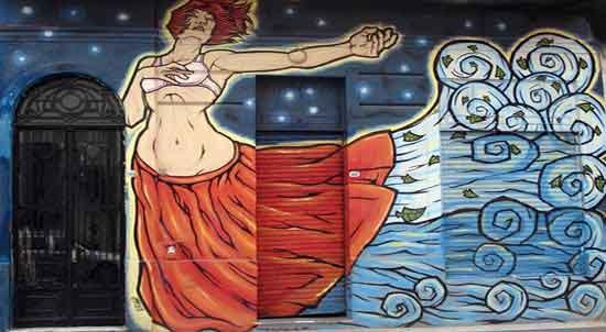 Un mural en Abasto