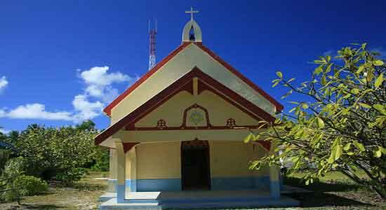 La iglesia más antigua de las Tuamotu