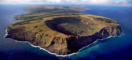 Rano Kau es probablemente uno de los cráteres más hermosos del planeta.