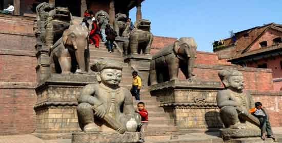 El templo de Nyatapola, Katmandu