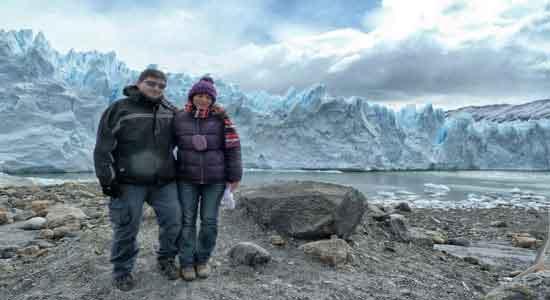 Opinión del Viaje a Argentina y Brasil: Daniel y Marta, con el glaciar Perito Moreno de fondo