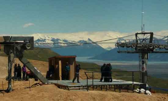 El recorrido de la aerosilla termina en lo alto del Cerro Huyliche.