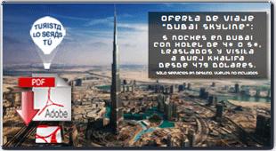 visitar Dubai - Descargar folleto pdf de la oferta