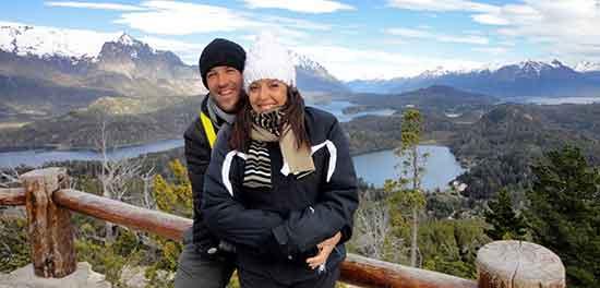 Viaje de novios a Argentina - Carlos y Eli en el mirador Cerro Campanario, Bariloche