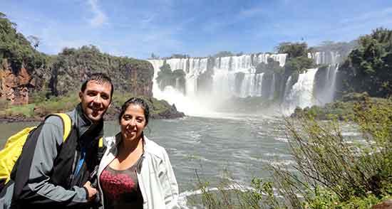 Viaje de novios a Argentina Carlos y Eli en Iguazú
