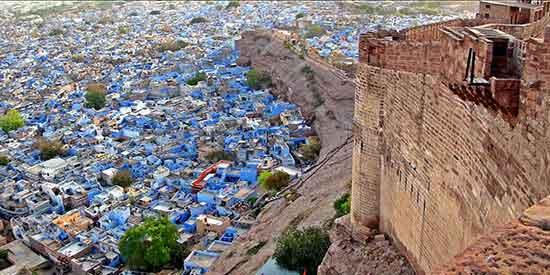 Visitar Jodhpur India, vista desde la fortaleza Mehranghar