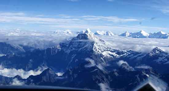 Vistas al Himalaya durante el Everest Flight (foto por Pablo y Veronica)