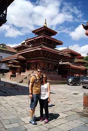 Pablo y Veronica en Katmandú