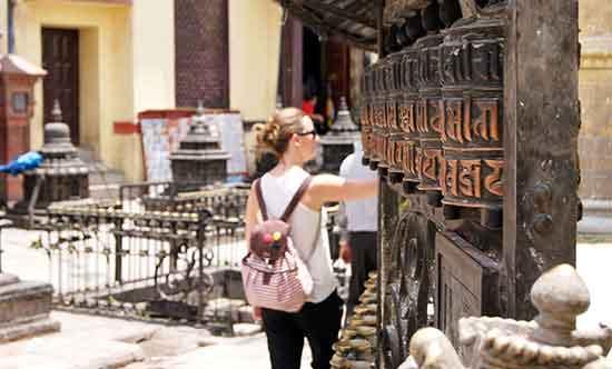 Veronica en Katmandú