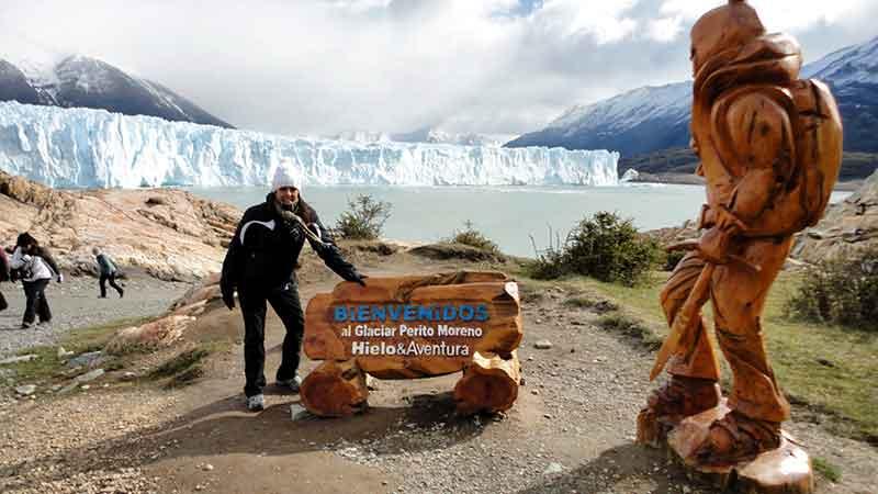 Iniciando el minitrekking de Perito Moreno.