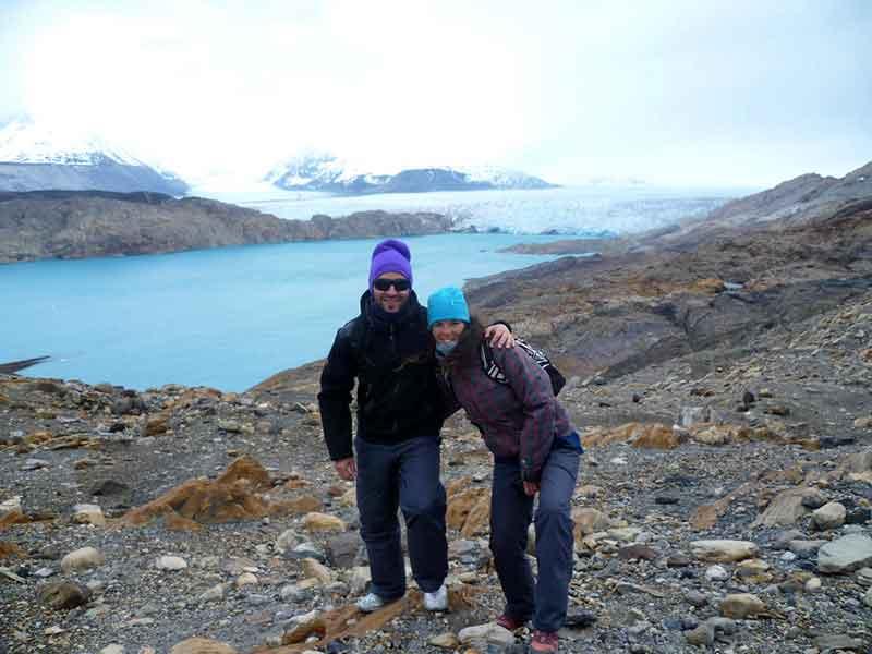 Glaciar Upsala desde Estancia Cristina.
