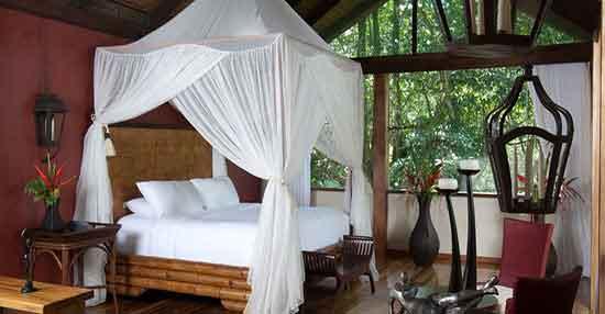 La Vista Linda Suite (dispone de cuatro) ocupa 230 m² y es su acomodación estrella