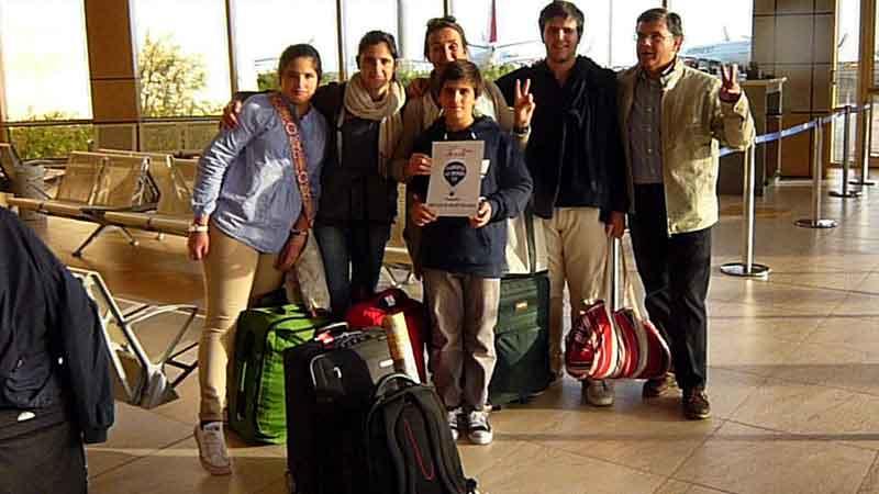 Bienvenida en el aeropuerto de El Cairo