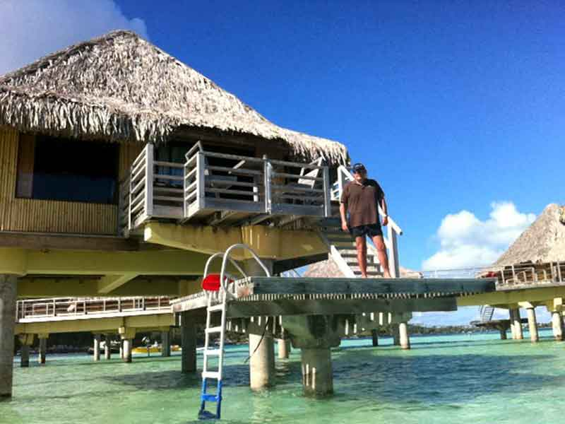Overwater Bungalow Intercontinental Le Moana de Bora Bora.