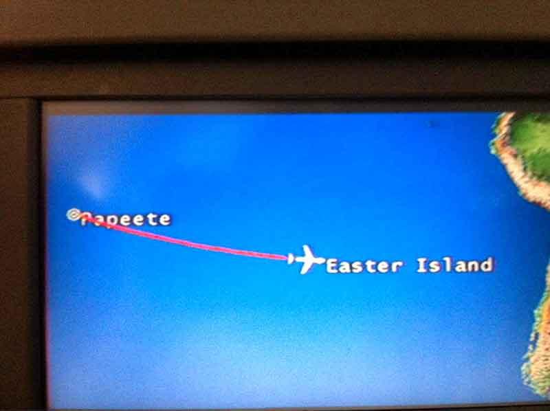 Volando de Papeete a Pascua.