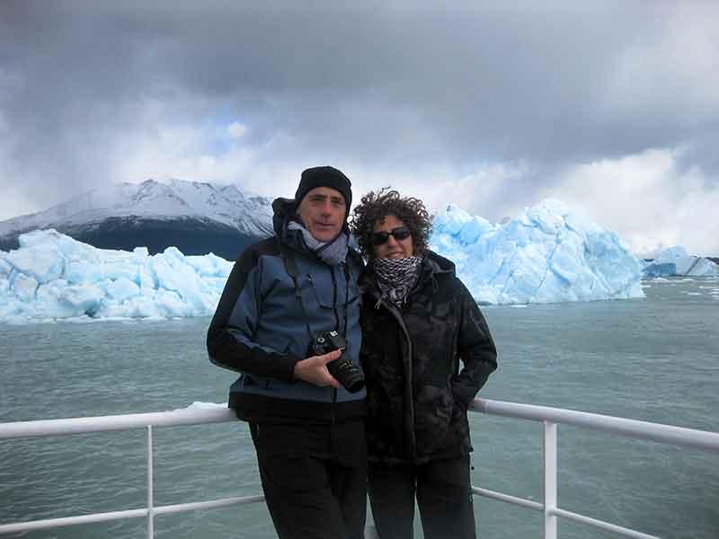 Navegando el Lago Argentino.