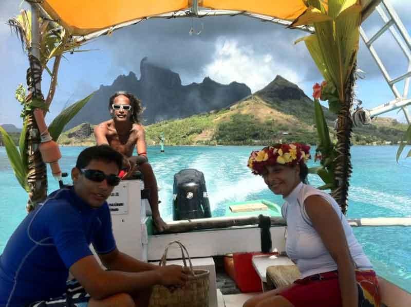 Navegando el lagoon de Bora Bora