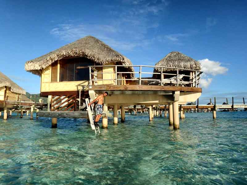 Overwater Bungalow de Le Taha'a Island Resort & Spa