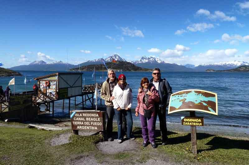 Esteban, Francisco, Margarita y Francisca en Parque Nacional Tierra del Fuego.