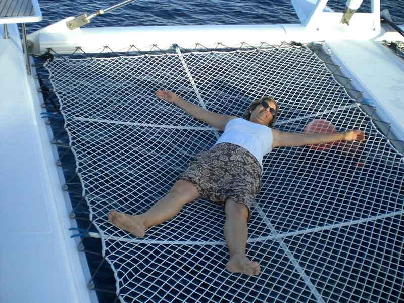 Ocio en el catamarán