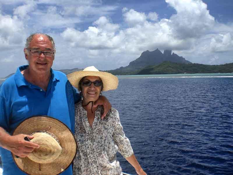 Frente al monte Otemanu de Bora Bora