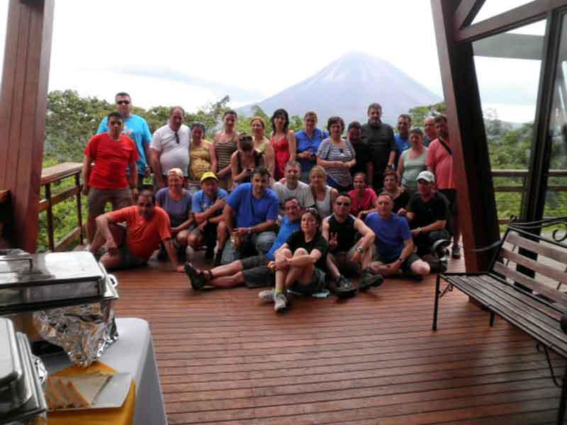 En el hotel frente a Volcán Arenal