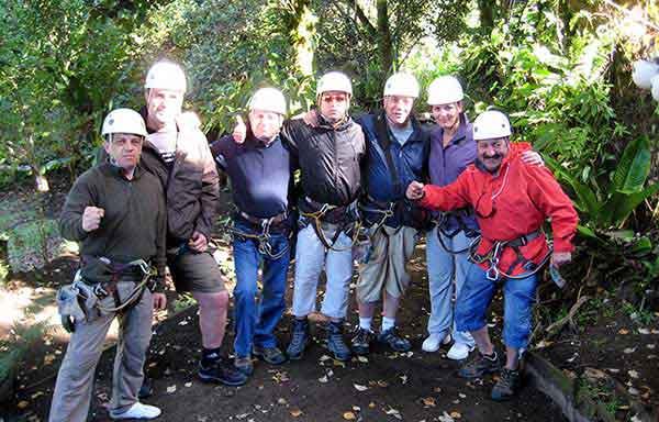 viaje de incentivo de empresa a Costa Rica - Canopy Tour en Arenal