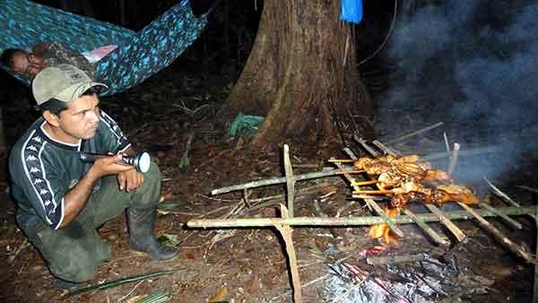 Cena en la selva