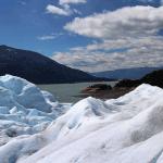 Vista del Brazo Rico de Lago Argentino (Parque Nacional Los Glaciares) desde el glaciar Perito Moreno.