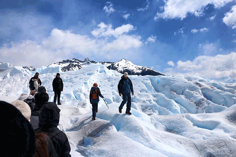 Minitrekking sobre el glaciar Perito Moreno.