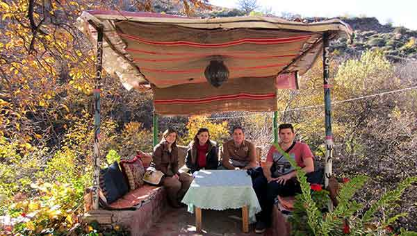 Pablo, Vero, Alegría y Héctor en Valle del Ourika