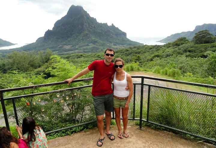 Moorea, panorámica desde el Belvedere - testimonio de viaje a Polinesia