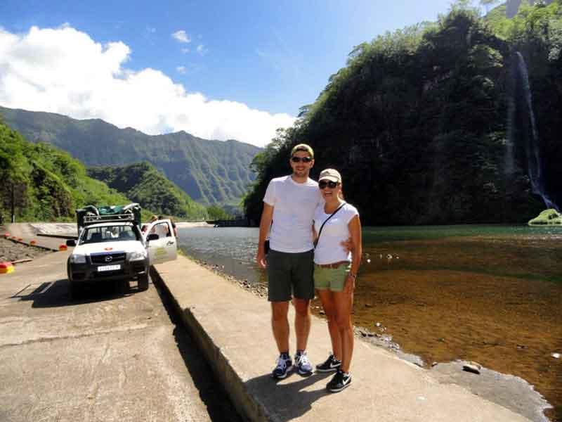 El safari 4x4 al interior de Tahiti