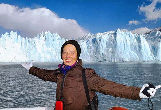 Lili, frente de glaciar Perito Moreno - viaje a Patagonia y Noroeste Argentino