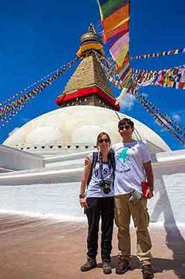 estupa de Boudhanath (Katmandú) - El viaje a India y Nepal de Juanma y Raquel