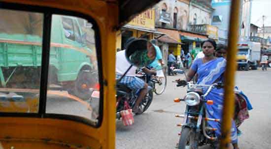 El trafico rodado en India del Sur