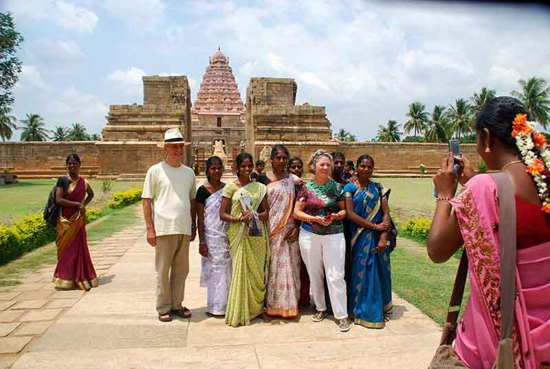 Juan Carlos y Carmen, en el Sur de India.
