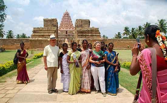 Juan Carlos y Carmen, en el Sur de India