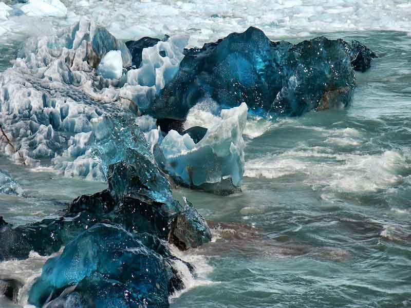 Déborah e Iván. Parque Nacional Los Glaciares, detalle.