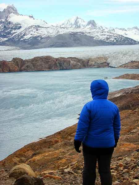 Déborah e Iván. Mirador al glaciar Upsala.